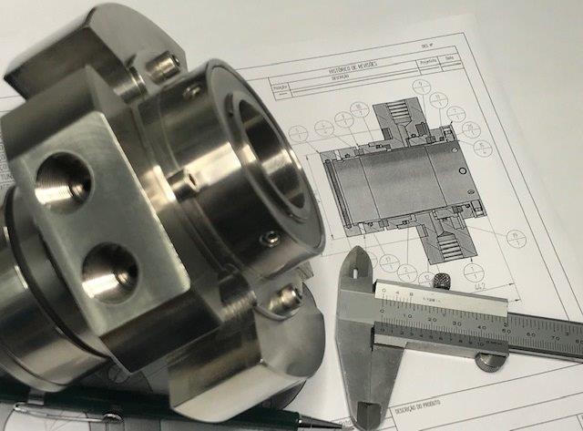 Conserto de selo mecanico